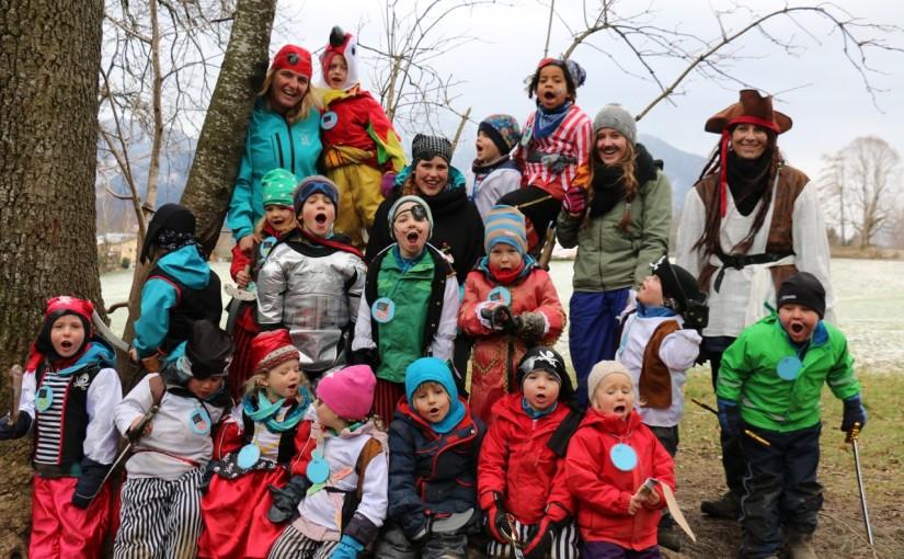 Wildes Faschingstreiben Im Waldkindergarten Ubersee Die