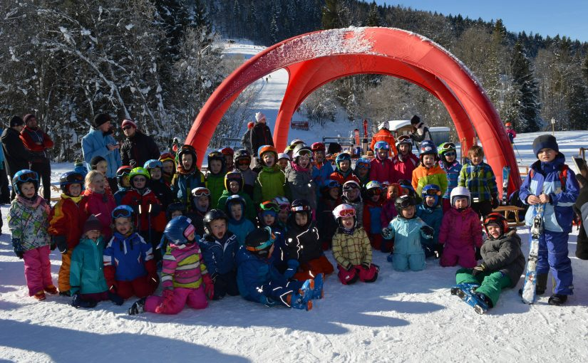 Skikurs der Überseer Kindergartenkinder