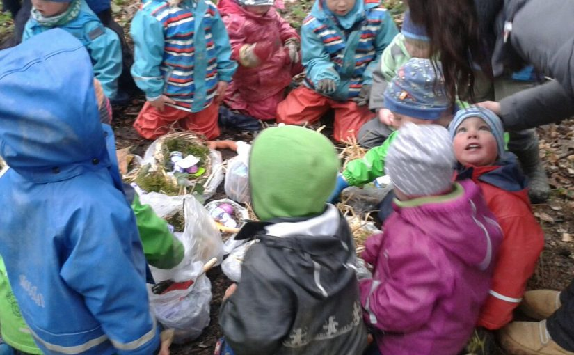 Der Osterhase im Waldkindergarten