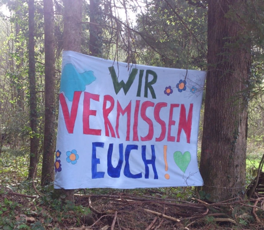 """Coronazeit"" im Waldkindergarten ""Wurzelkinder e.V."""
