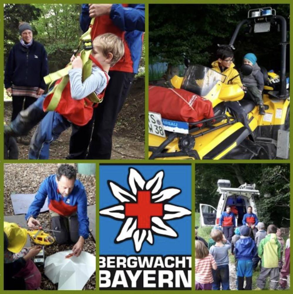 """Besuch der Grassauer Bergwacht bei den """"Wurzelkindern """" in Übersee"""
